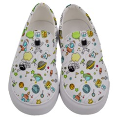 Space Pattern Men s Canvas Slip Ons