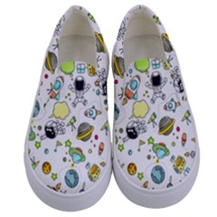 Space Pattern Kids  Canvas Slip Ons