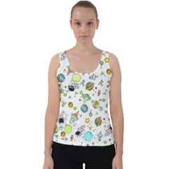 Space Pattern Velvet Tank Top