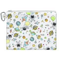 Space Pattern Canvas Cosmetic Bag (xxl)