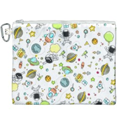 Space Pattern Canvas Cosmetic Bag (xxxl)