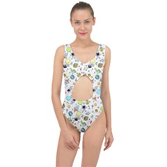 Space Pattern Center Cut Out Swimsuit