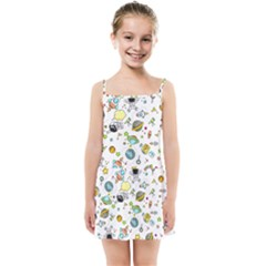 Space Pattern Kids Summer Sun Dress