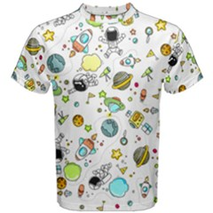 Space Pattern Men s Cotton Tee