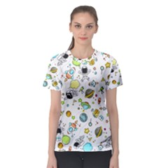 Space Pattern Women s Sport Mesh Tee