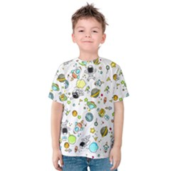 Space Pattern Kids  Cotton Tee
