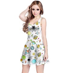 Space Pattern Reversible Sleeveless Dress