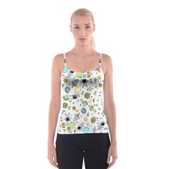 Space Pattern Spaghetti Strap Top