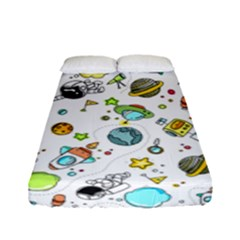 Space Pattern Fitted Sheet (full/ Double Size)