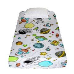 Space Pattern Fitted Sheet (single Size)