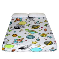 Space Pattern Fitted Sheet (king Size)