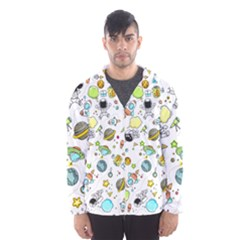 Space Pattern Hooded Wind Breaker (men)