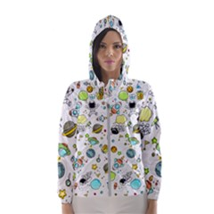 Space Pattern Hooded Wind Breaker (women)