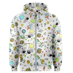 Space Pattern Men s Zipper Hoodie
