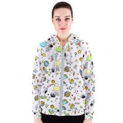 Space Pattern Women s Zipper Hoodie