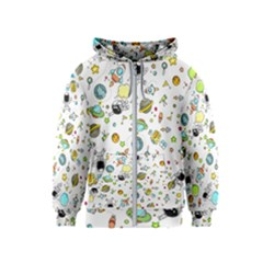 Space Pattern Kids  Zipper Hoodie