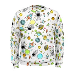 Space Pattern Men s Sweatshirt