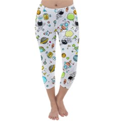 Space Pattern Capri Winter Leggings