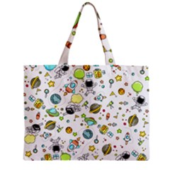 Space Pattern Zipper Mini Tote Bag