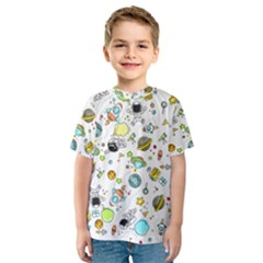 Space Pattern Kids  Sport Mesh Tee