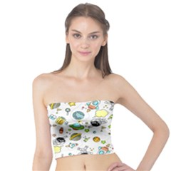 Space Pattern Tube Top