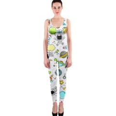 Space Pattern One Piece Catsuit