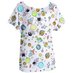 Space Pattern Women s Oversized Tee