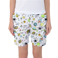 Space Pattern Women s Basketball Shorts