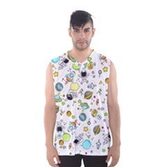 Space Pattern Men s Basketball Tank Top