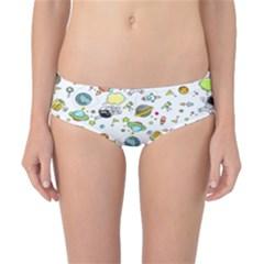 Space Pattern Classic Bikini Bottoms