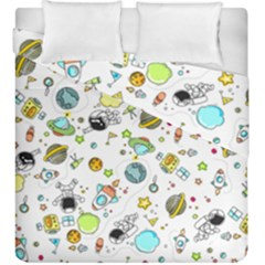 Space Pattern Duvet Cover Double Side (king Size)
