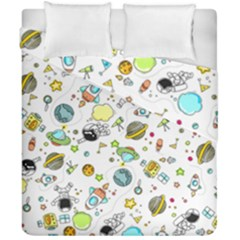 Space Pattern Duvet Cover Double Side (california King Size)