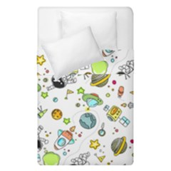 Space Pattern Duvet Cover Double Side (single Size)