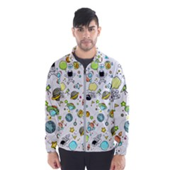 Space Pattern Wind Breaker (men)