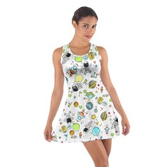 Space Pattern Cotton Racerback Dress