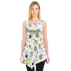 Space Pattern Sleeveless Tunic