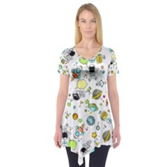 Space Pattern Short Sleeve Tunic