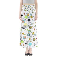 Space Pattern Full Length Maxi Skirt