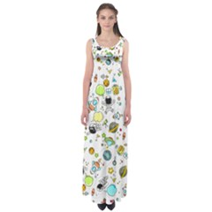 Space Pattern Empire Waist Maxi Dress