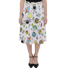 Space Pattern Folding Skater Skirt