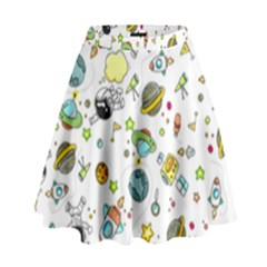 Space Pattern High Waist Skirt