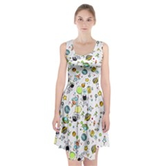 Space Pattern Racerback Midi Dress