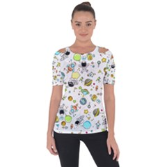 Space Pattern Short Sleeve Top
