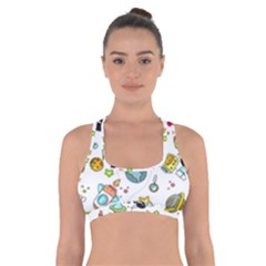 Space Pattern Cross Back Sports Bra