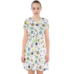 Space Pattern Adorable In Chiffon Dress