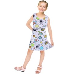 Space Pattern Kids  Tunic Dress