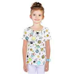 Space Pattern Kids  One Piece Tee