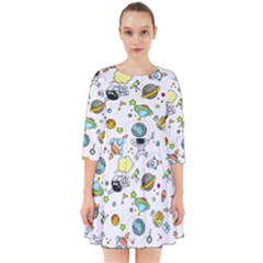 Space Pattern Smock Dress