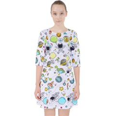 Space Pattern Pocket Dress