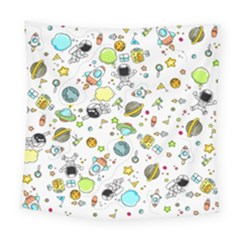Space Pattern Square Tapestry (large)